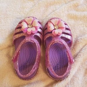 Toddler girls crocs sandals.